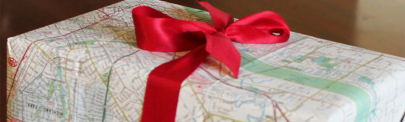 Old Maps As Gift Wrap